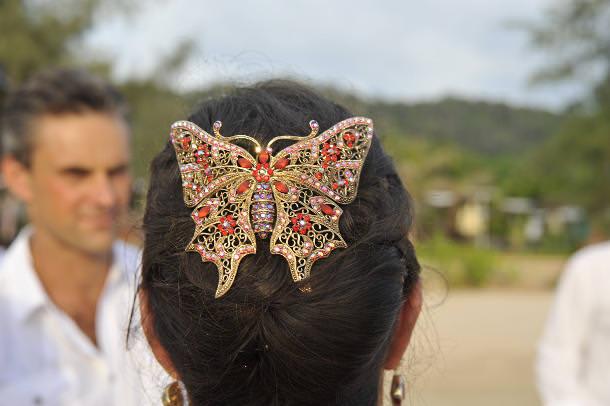 Hair piece of bride