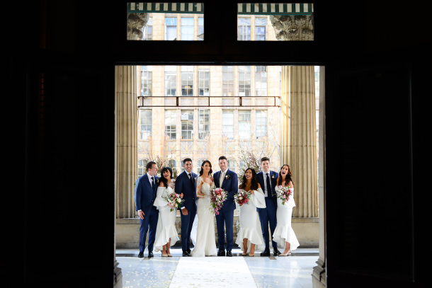 emily simms real wedding melbourne town hall 9