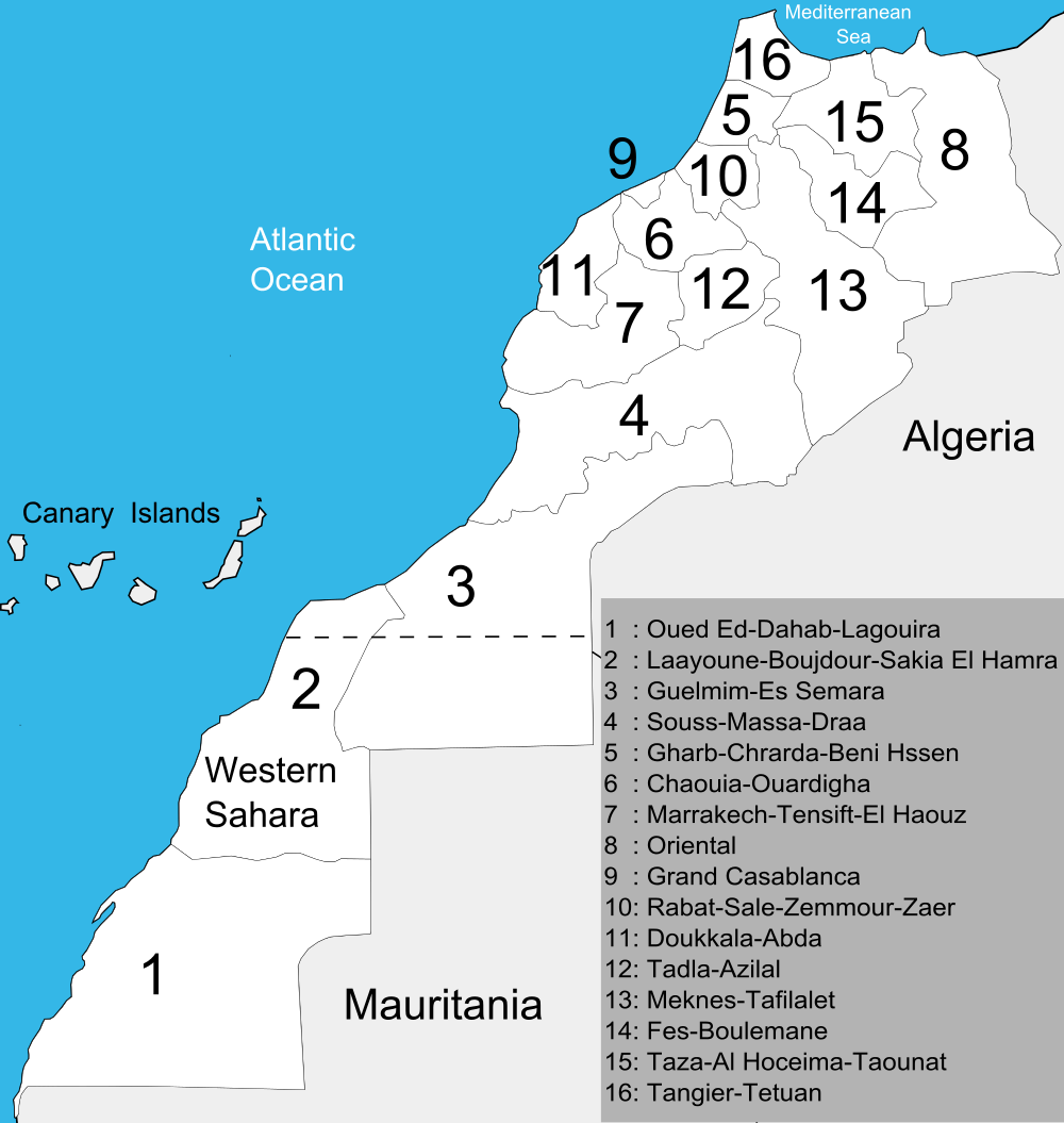 Regions of Morocco