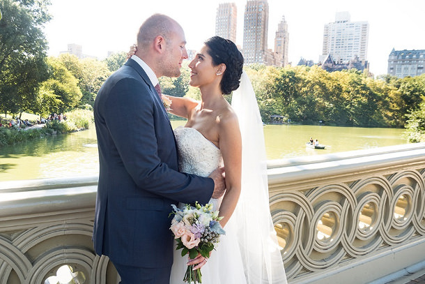 central park bow bridge wedding
