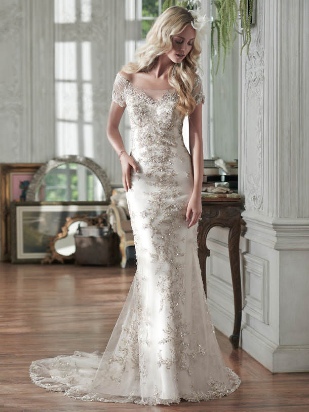 gold wedding dress 2016
