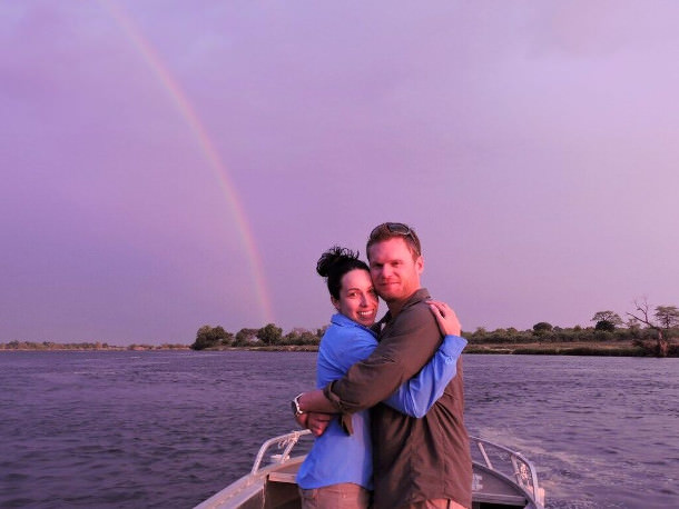 zambezi river rainbow